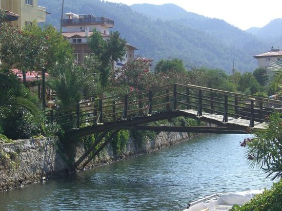 Icmeler, Turkey: A view of the canal