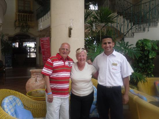 Aurora Sharm Resort : Our friend Mohamed on Reception