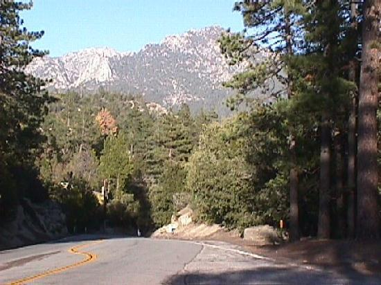 San Jacinto mountain peaks from Idyllwild