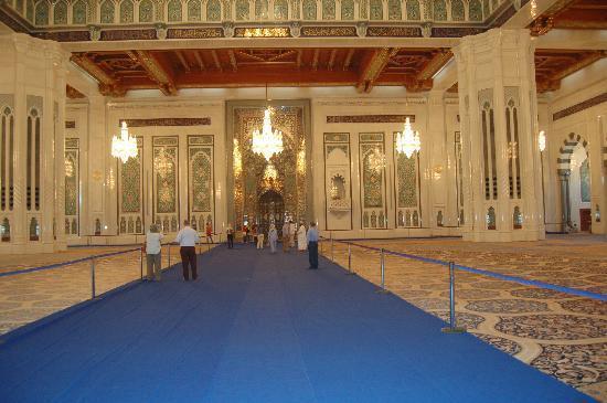 Gran mezquita del Sultán Qaboos: The main prayer room