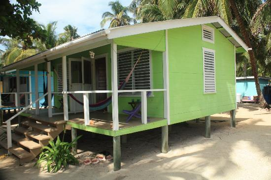 Tobacco Caye Lodge: Our room from the outside