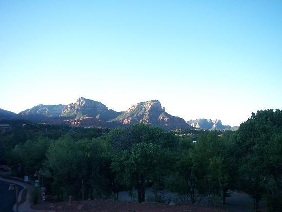 view from the Sedona Motel