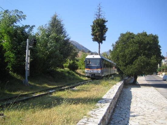 Diakofto, Greece: Train at the top station (Kakavryta)