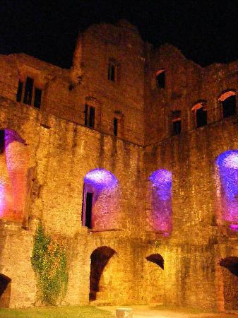 Burg Hohenbaden: All Lit Up