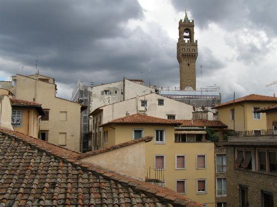 "Relais Cavalcanti: A view from ""Pontormo"" toward Palazzo Vecchio."