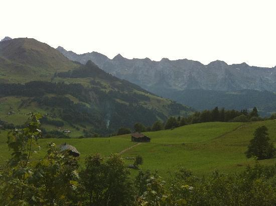La Source Eco Lodge : Frech alps scenary from the chalet