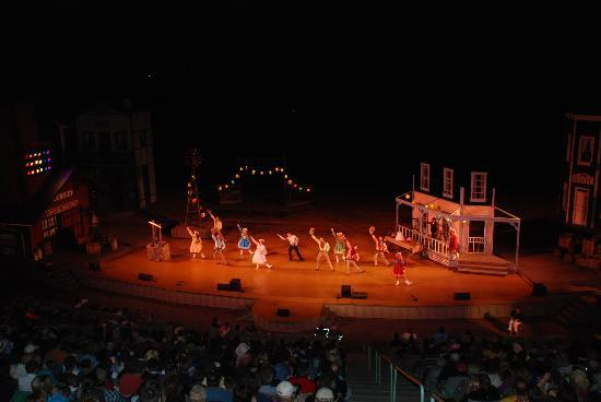 Medora Musical after the sun goes down
