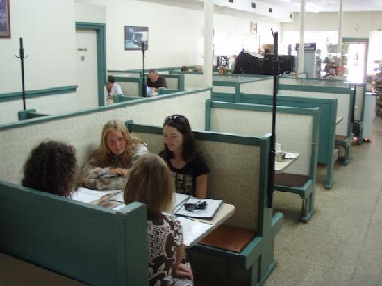 Mels Tearoom: Inside the  tea room