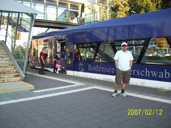 Hotel Traube am See: the train passed me by while i was busy posing