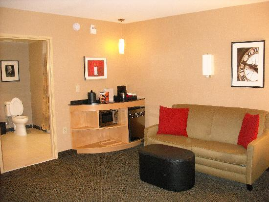 Cambria hotel & suites Raleigh-Durham Airport: Spacious living room