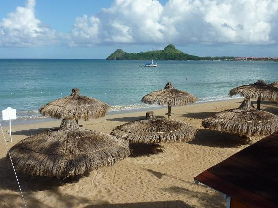Royal St Lucia Resort and Spa: View from room looking toward Pigeon Island