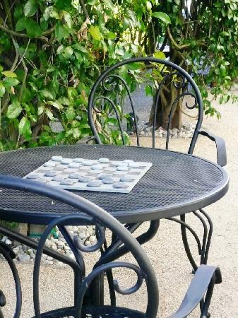 Arbor Guest House : Checkers table
