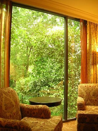 The Houstonian: bedroom with view of trees