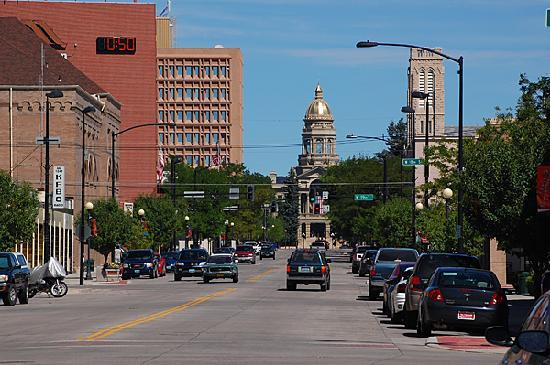 Wyoming's capitol building is just a few blocks north of downtown Cheyenne.