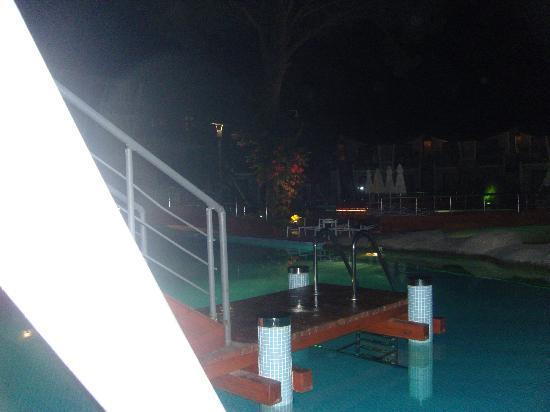 Cornelia De Luxe Resort : Swim up view at night