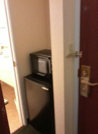 Best Western Wesley Chapel: Fridge & Microwave
