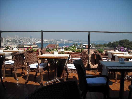 Rooftop terrace view over golden horn picture of for Terrace restaurant menu