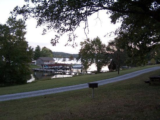 Piney Point Resort: View from my cabin yard