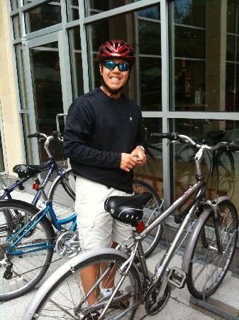 Watertown Hotel - A Piece of Pineapple Hospitality: Unlocking one of the hotel's free bikes.