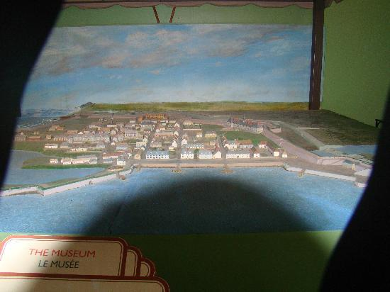 Louisbourg, Καναδάς: a model of the fortress