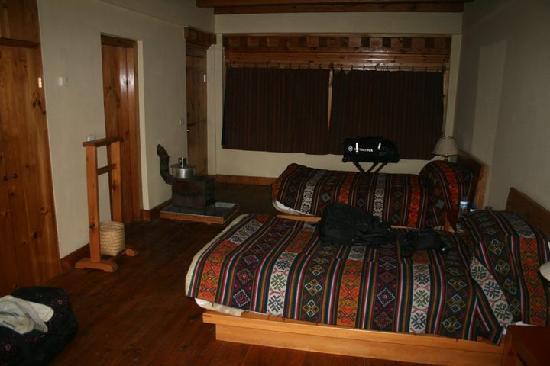 Phobjikha Valley, Bután: Dewachen hotel room