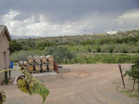 Star Motel: Watching the strorm come in at Alacantera Vineyards