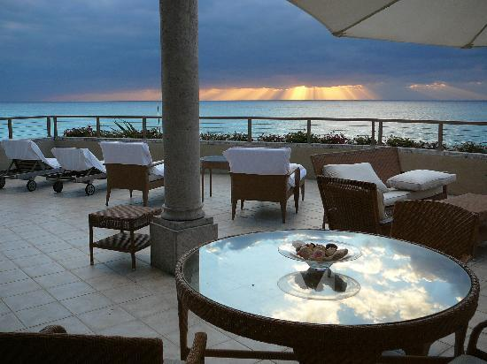 The Residences at The Ritz-Carlton, Grand Cayman: View at sunset from our terrace.