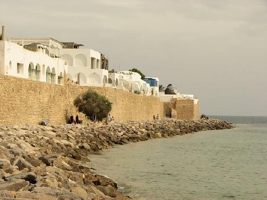 Scenic coastline of Hammamet