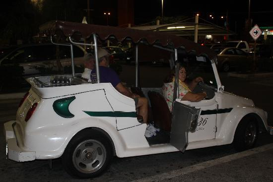 Mayan Palace Mazatlan : the little carts you ride around town in