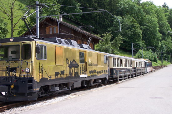 Swiss Chocolate Train: ...our train awaits...