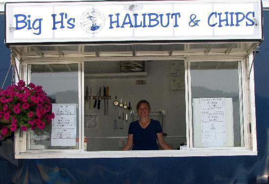 Hubs Motel : Big H's Halibit and Chips