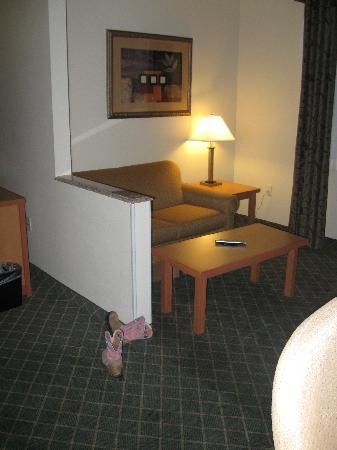 Holiday Inn Express Lincoln South: sitting area with boots
