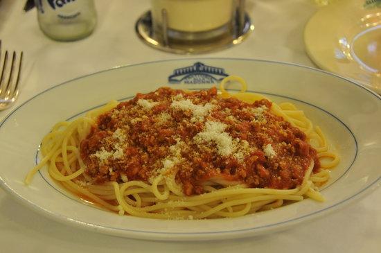 Trattoria alla Madonna : bolognese spaghetti