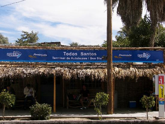 Τόδος Σάντος, Μεξικό: The bus station we arrived at in Todos Santos.