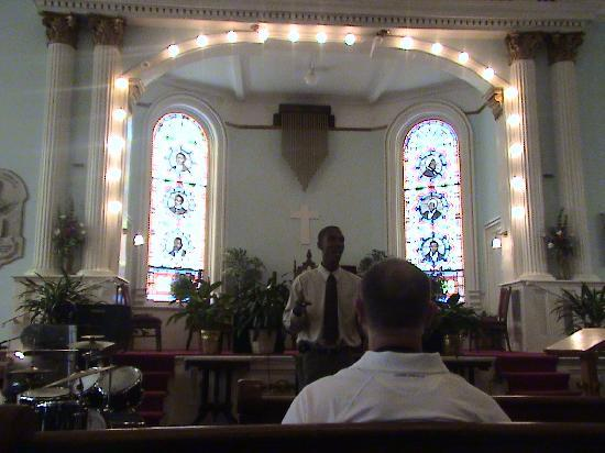 First African Baptist Church: Pastors in Stained glass