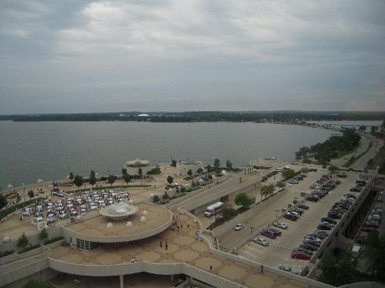 Madison, WI: View over Monona Center from the Hilton