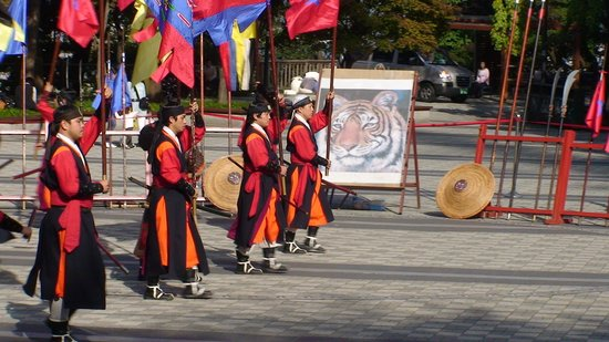 Seoul, South Korea: Cultural Performance of the Choesan Dynasty Warriers