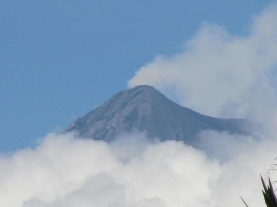 Quinta de las Flores: Zoom photo of Volcan Fuego, snapped from the gardens