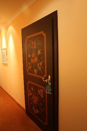 Hotel Bavaria: our room's door