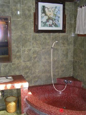 Hibiscus Cottages: Part of the bathroom of the Honeymoon Cottage
