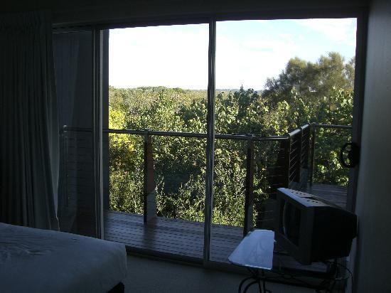 The Sebel Twin Waters: View from bedroom - has small analogue TV