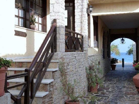 Karlovasi, Griechenland: Receptie met doorkijk naar zee