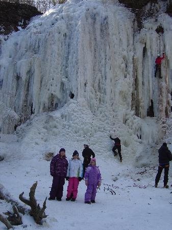 Waterfalls of Hamilton: Frozen  Tiffany falls