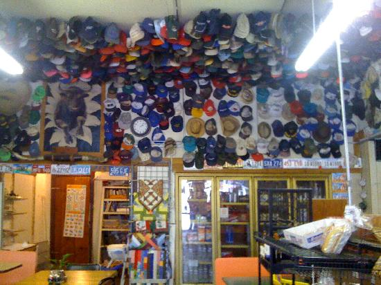 Crystalwood Lodge: Oh my gosh, local store. I've NEVER seen so many hats!