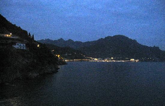 Villa San Michele: night scene from room's balcony