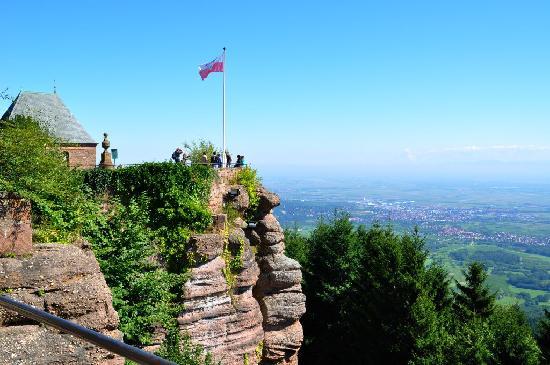Couvent du mont Sainte-Odile : Blick nach Nordosten