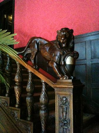 Patrick Hellmann Schlosshotel: elements on stairs....