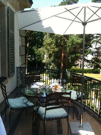 Patrick Hellmann Schlosshotel: The terrace in the room