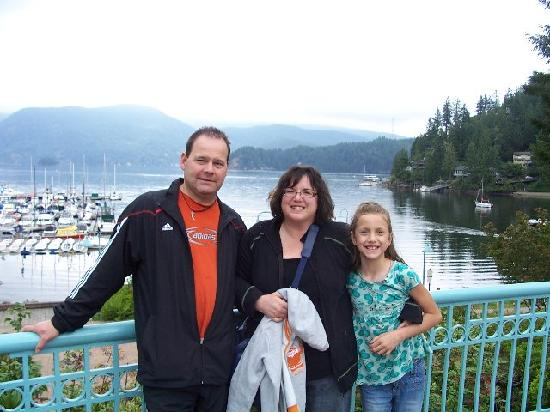 My wif and daughter ...Deep Cove in the background.