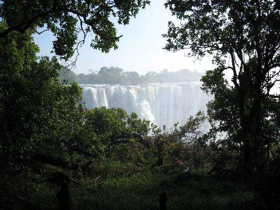 Air Terjun Victoria, Zimbabwe: A view of the Falls